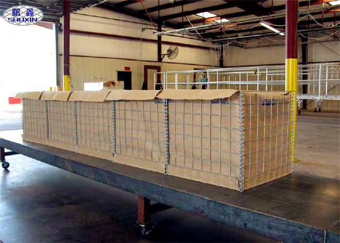 Portable Sand Filled Barriers , Galfan Coated Welded Hesco Bastion Wall