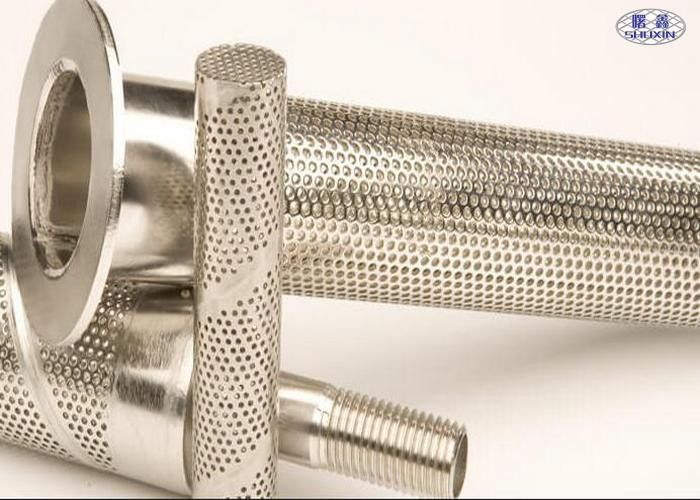 Stainless Steel Perforated Filter Tube , AISI 304 Punching Hole Stainless Mesh Tube