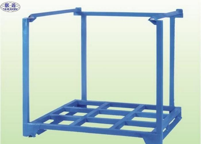 Customized Steel Stacking Racks , Storage / Transport Pallet Stacking Frames